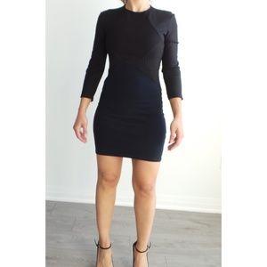 Zara Black/Blue Mini Bodycon Stretchy Dress Size S